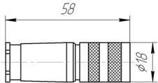 Розетка на кабель С091 11D007 000 2 для СКЦД